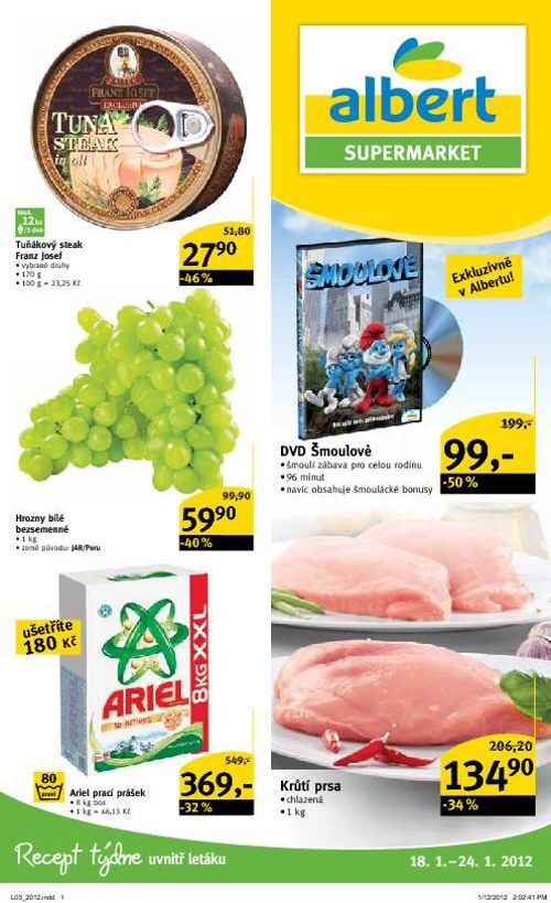 Leták Albert supermarket (od 18. leden 2012 do 24. leden 2012)