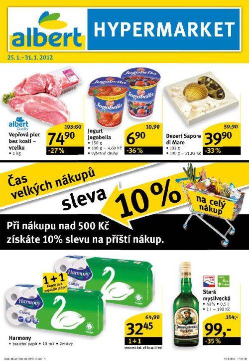 Leták Albert hypermarket (od 25. leden 2012 do 31. leden 2012)