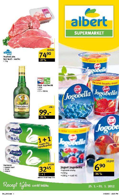 Leták Albert supermarket (od 25. leden 2012 do 31. leden 2012)