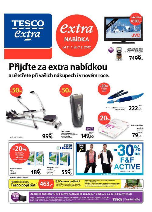 Leták Tesco Extra (od 11. leden 2012 do 7. únor 2012)