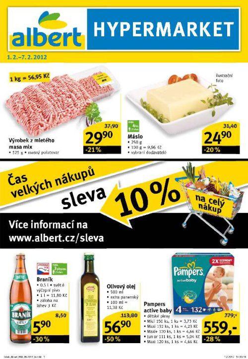 Leták Albert hypermarket (od 1.2.2012 do 7.2.2012)