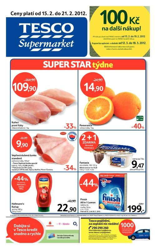 Leták Tesco supermarket (od 16.2. do 21.2.2012)