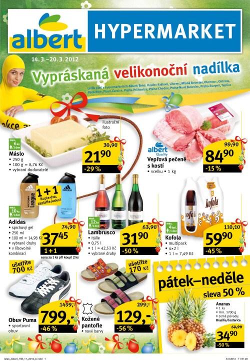 Leták Albert hypermarkety (od 14. březen 2012 do 20. březen 2012)