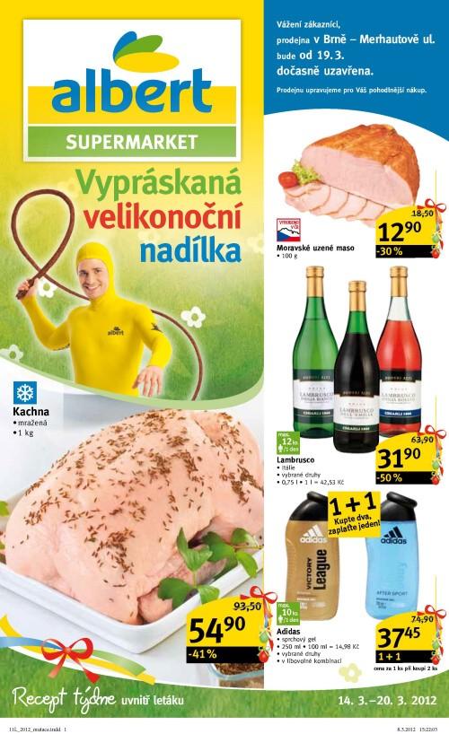 Leták Albert supermarkety (od 14. březen 2012 do 20. březen 2012)
