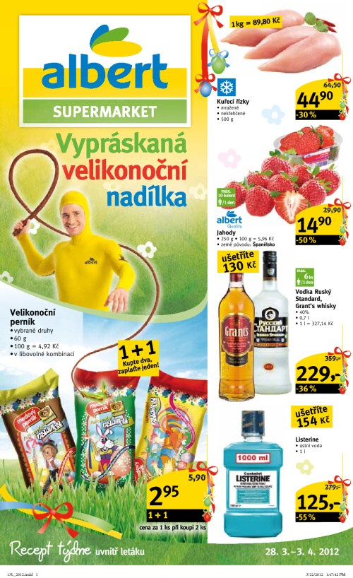 Leták Albert supermarkety (od 28. březen 2012 do 3. duben2012)