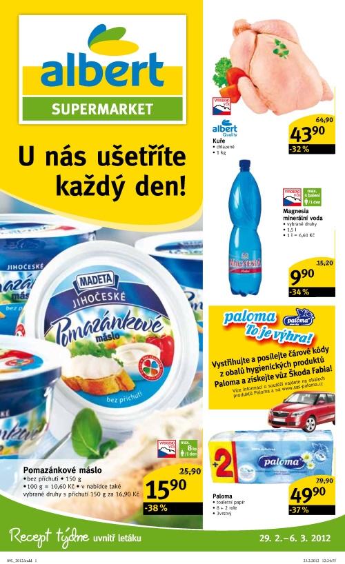Leták Albert supermarkety (od 29. únor 2012 do 6. březen 2012)