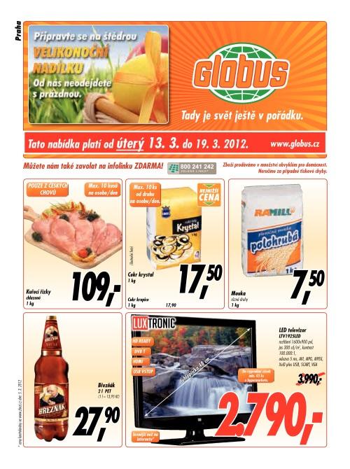 Leták Globus  (od 13. březen 2012 do 19. březen 2012)
