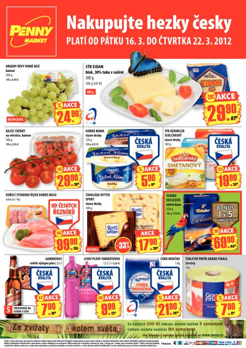 Leták Penny Market  (od 16. březen 2012 do 22. březen 2012)