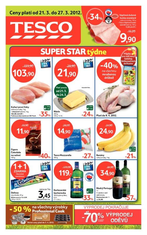 Leták Tesco hypermarkety (od 21. březen 2012 do 27. březen 2012)