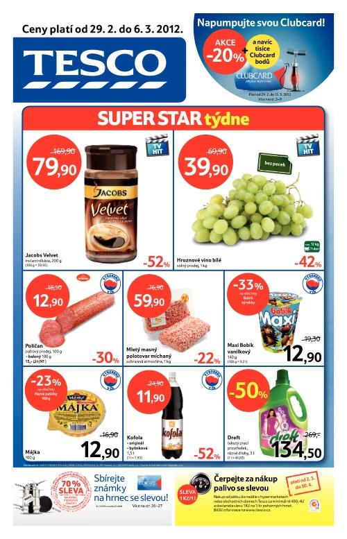 Leták Tesco hypermarkety (od 29. únor 2012 do 6. březen 2012)