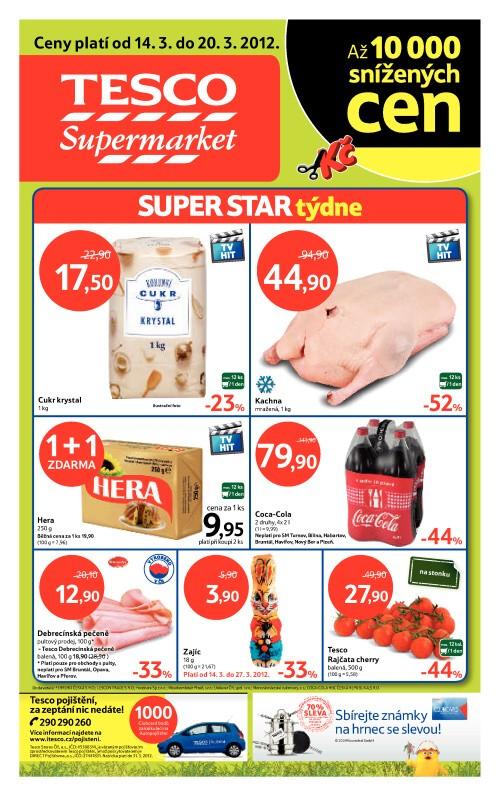 Leták Tesco supermarkety (od 14. březen 2012 do 20. březen 2012)