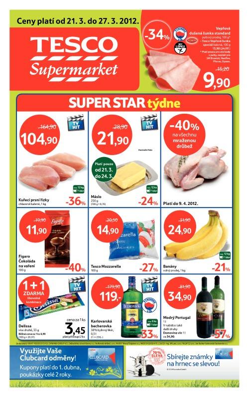 Leták Tesco supermarkety (od 21. březen 2012 do 27. březen 2012)
