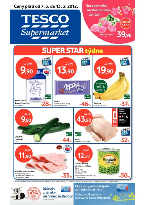 Leták Tesco supermarkety (od 7.3.2012 do 13.3.2012)