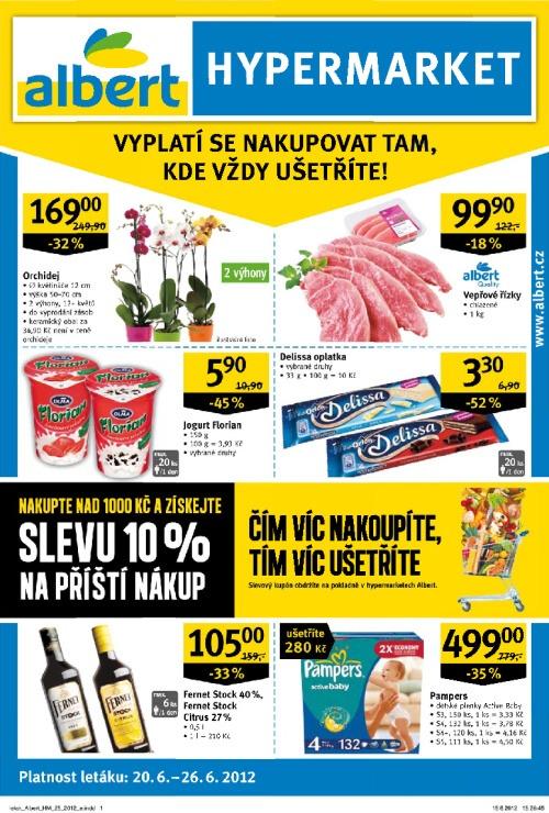 Leták Albert hypermarkety (od 20. červen 2012 do 26. červen 2012)