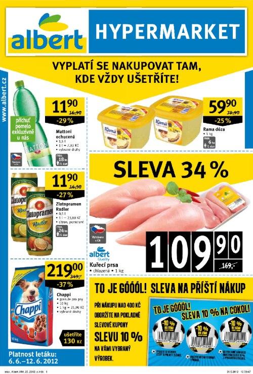 Leták Albert hypermarkety (od 6. červen 2012 do 12. červen 2012)