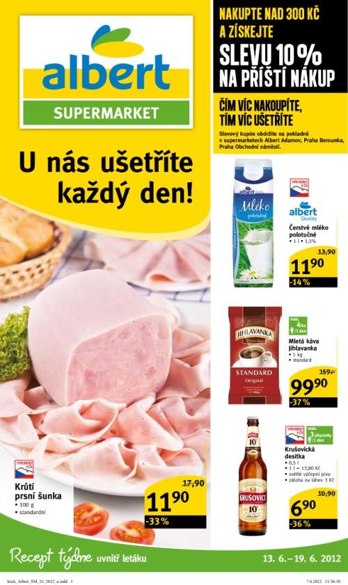 Leták Albert supermarkety (od 13. červen 2012 do 19. červen 2012)