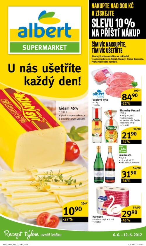 Leták Albert supermarkety (od 6. červen 2012 do 12. červen 2012)
