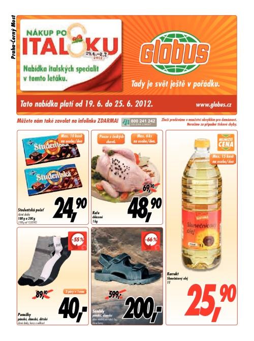 Leták Globus  (od 19. červen 2012 do 25. červen 2012)