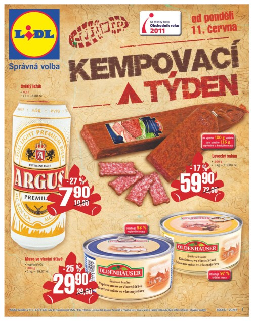 Leták Lidl obchody (od 11. červen 2012 do 17. červen 2012)