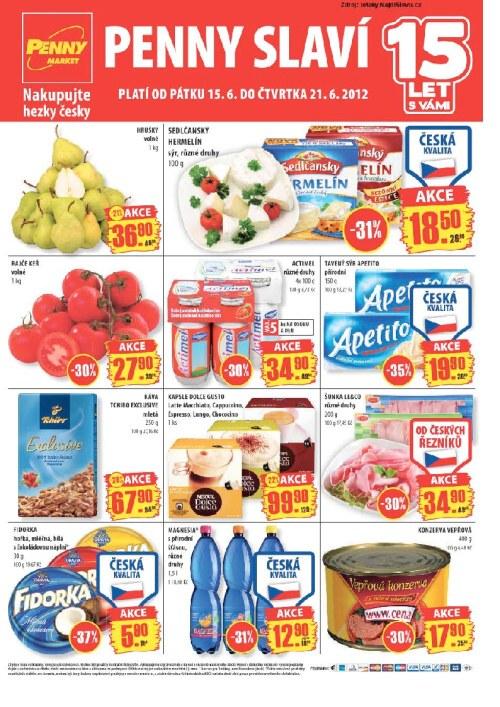 Leták Penny Market  (od 15. červen 2012 do 21. červen 2012)