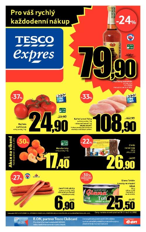 Leták Tesco expres (od 30. květen 2012 do 5. červen 2012)