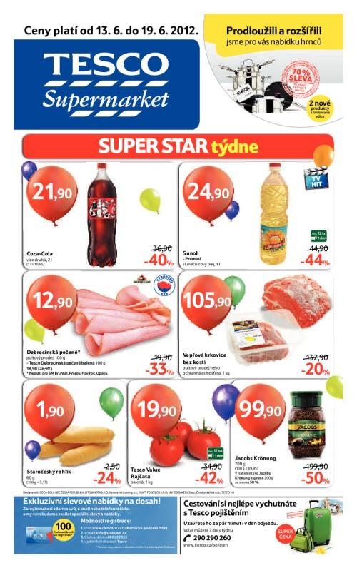 Leták Tesco supermarkety (od 13. červen 2012 do 19. červen 2012)