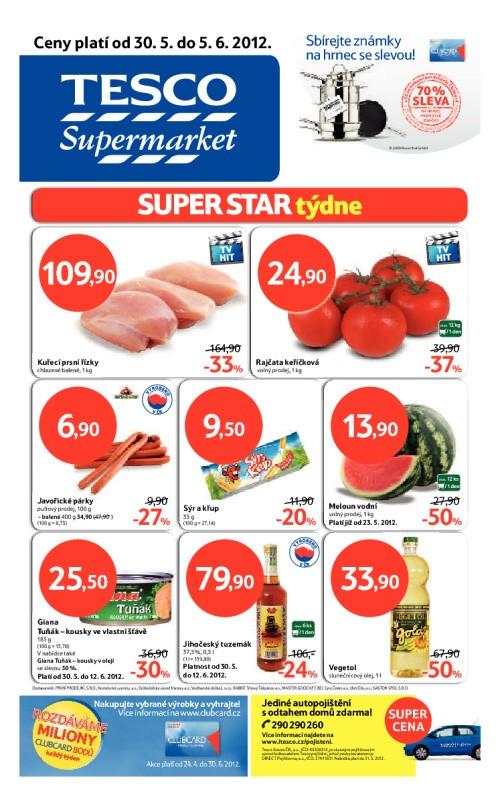 Leták Tesco supermarkety (od 30. květen 2012 do 5. červen 2012)