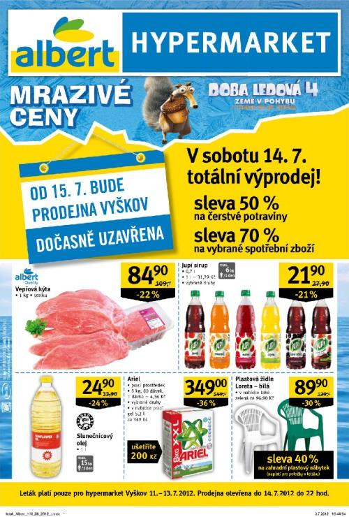 Leták Albert hypermarkety (od 11. červenec 2012 do 17. červenec 2012)