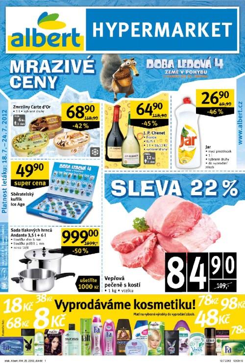 Leták Albert hypermarkety (od 18. červenec 2012 do 24. červenec 2012)