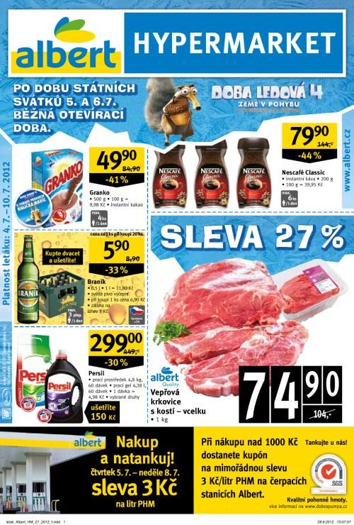 Leták Albert hypermarkety (od 4. červenec 2012 do 10. červenec 2012)