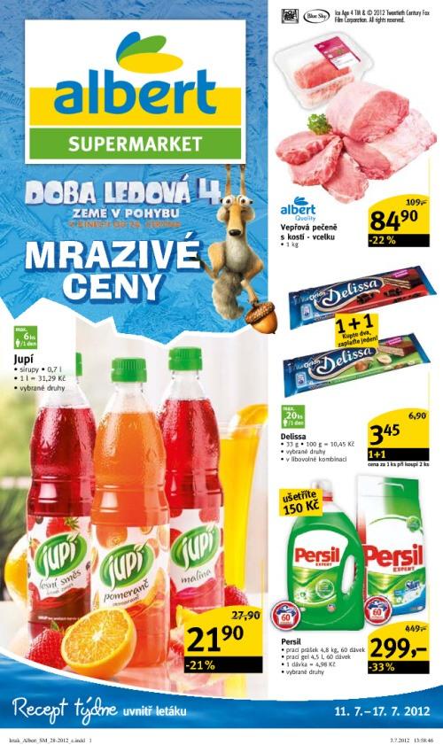 Leták Albert supermarkety (od 11. červenec 2012 do 17. červenec 2012)