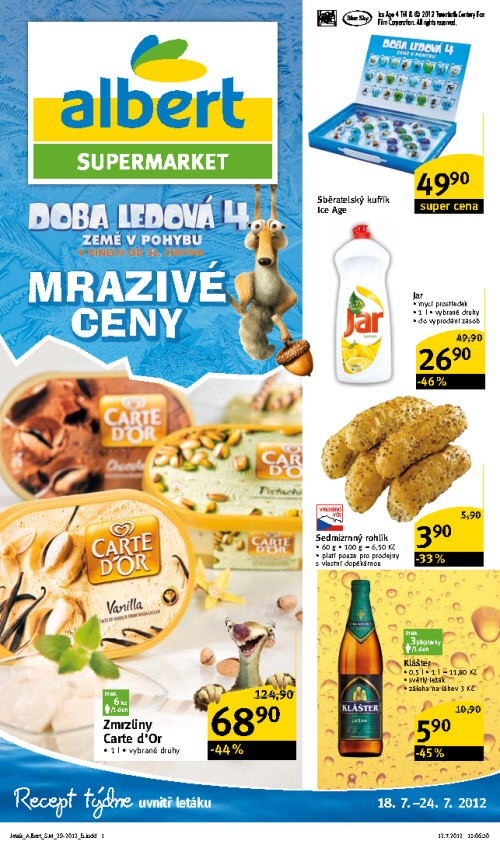 Leták Albert supermarkety (od 18. červenec 2012 do 24. červenec 2012)