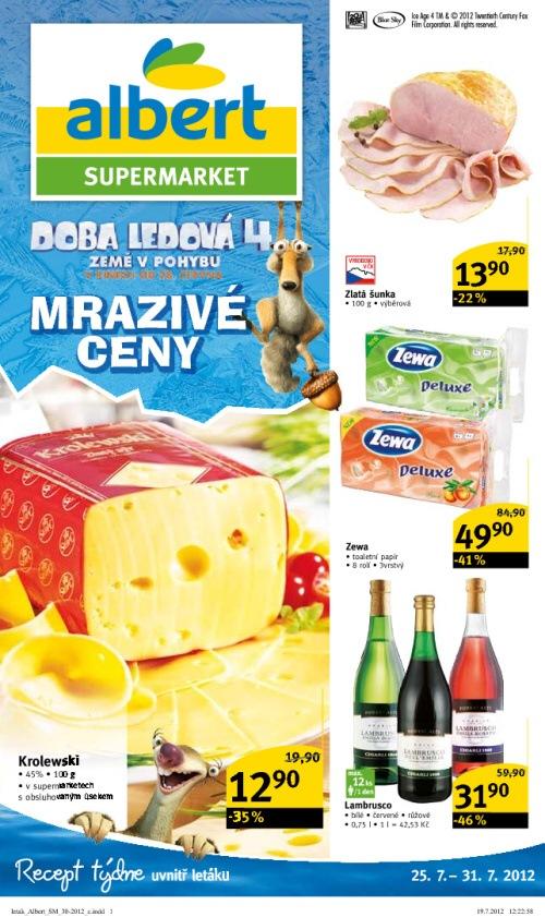 Leták Albert supermarkety (od 25. červenec 2012 do 31. červenec 2012)