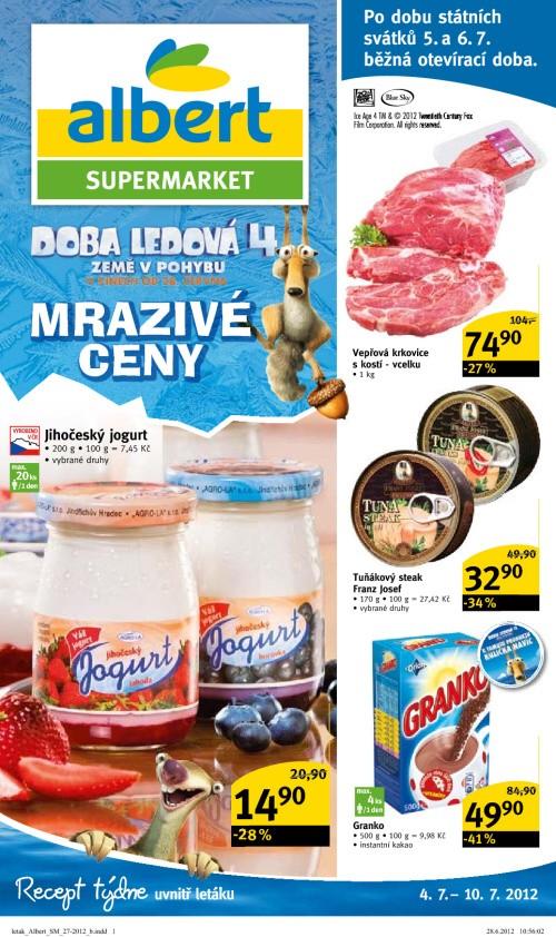 Leták Albert supermarkety (od 4. červenec 2012 do 10. červenec 2012)