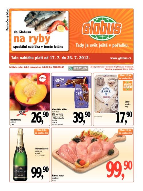 Leták Globus  (od 17. červenec 2012 do 23. červenec 2012)