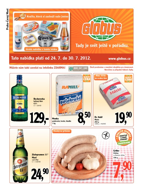 Leták Globus  (od 24. červenec 2012 do 31. červenec 2012)