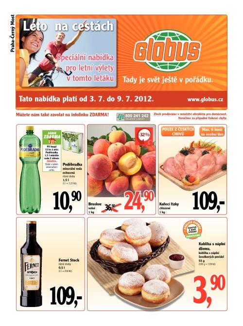 Leták Globus  (od 3. červenec 2012 do 9. červenec 2012)