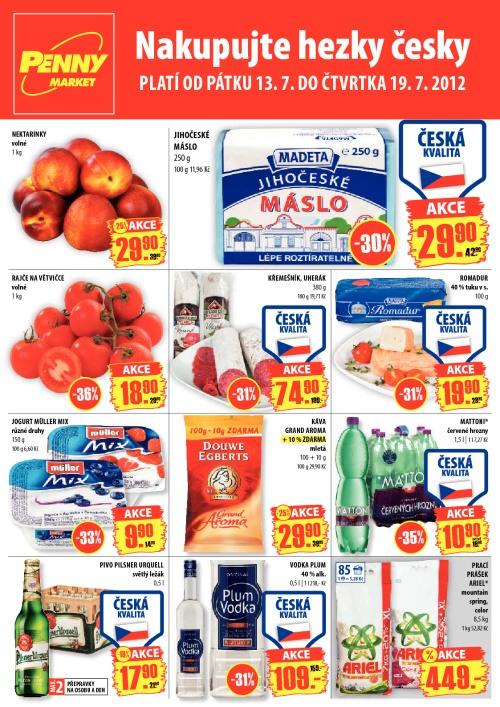 Leták Penny Market  (od 13. červenec 2012 do 19. červenec 2012)