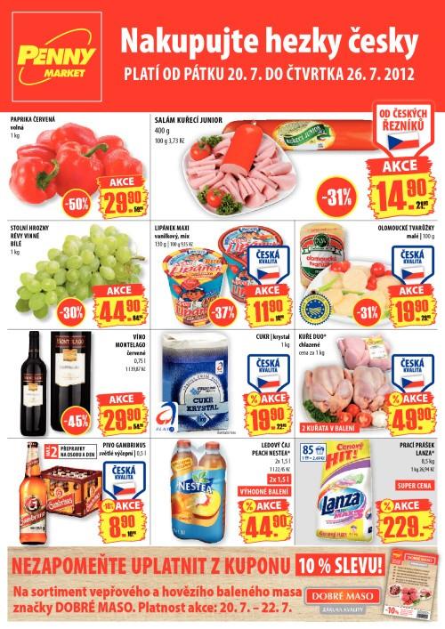 Leták Penny Market  (od 20. červenec 2012 do 26. červenec 2012)
