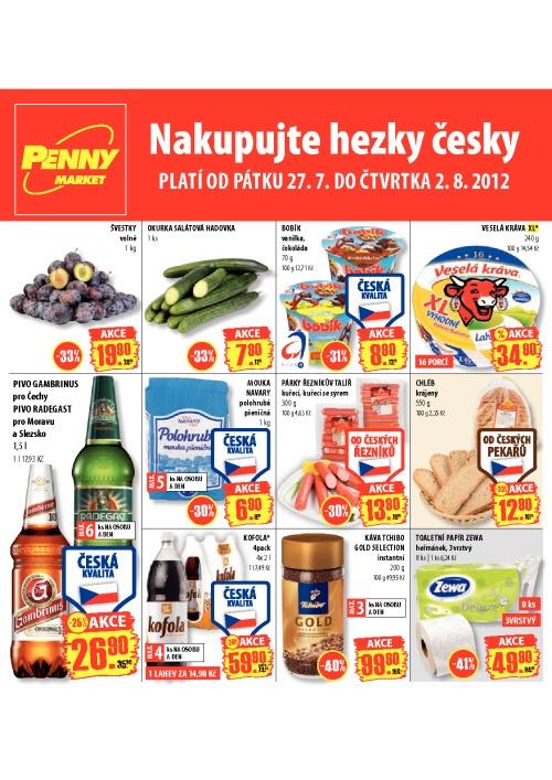 Leták Penny Market  (od 27. červenec 2012 do 2. srpen 2012)