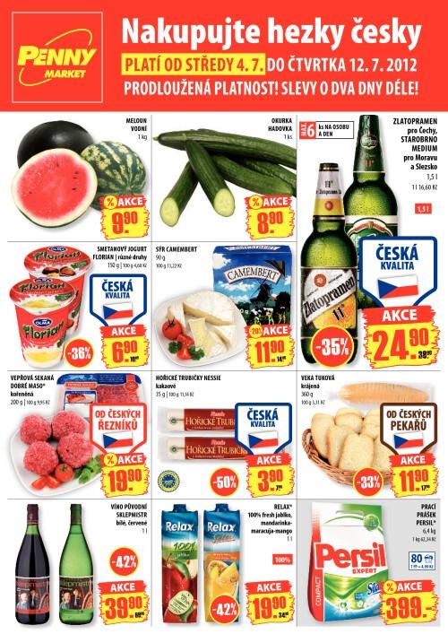Leták Penny Market  (od 4. červenec 2012 do 12. červenec 2012)