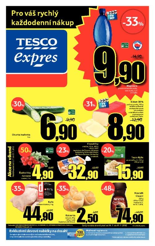 Leták Tesco expres (od 11. červenec 2012 do 17. červenec 2012)