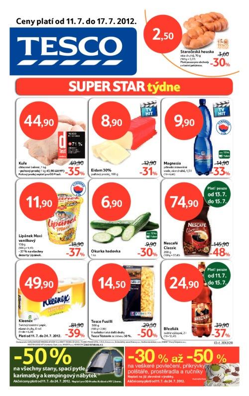 Leták Tesco hypermarkety (od 11. červenec 2012 do 17. červenec 2012)