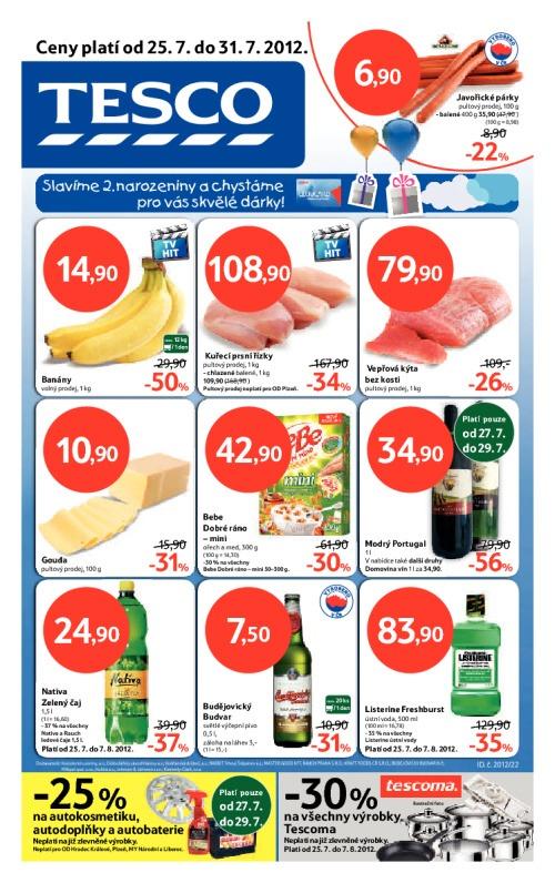 Leták Tesco hypermarkety (od 25. červenec 2012 do 31. červenec 2012)