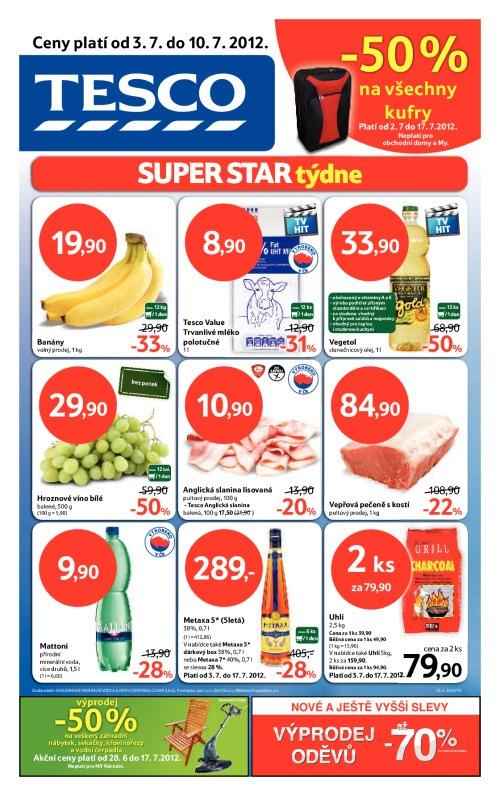 Leták Tesco hypermarkety (od 3. červenec 2012 do 10. červenec 2012)