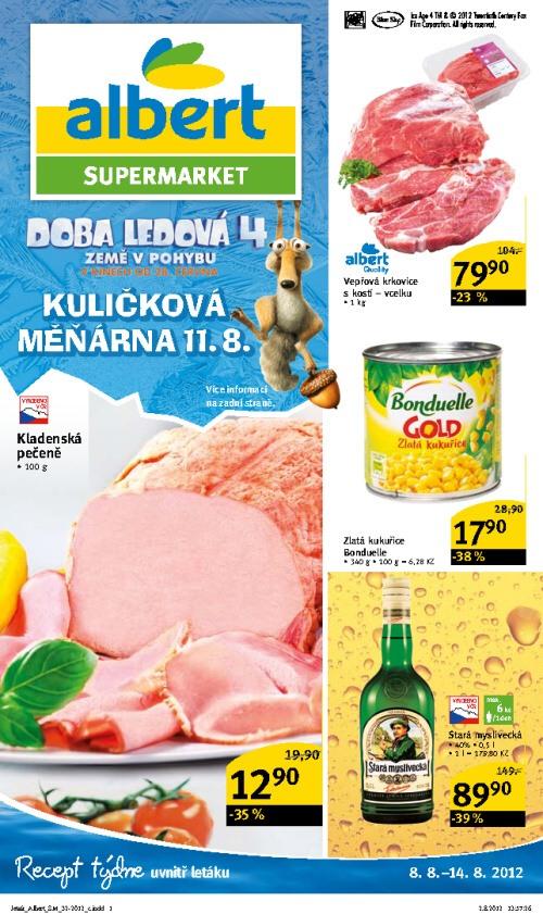 Leták Albert supermarkety (od 8. srpen 2012 do 14. srpen 2012)