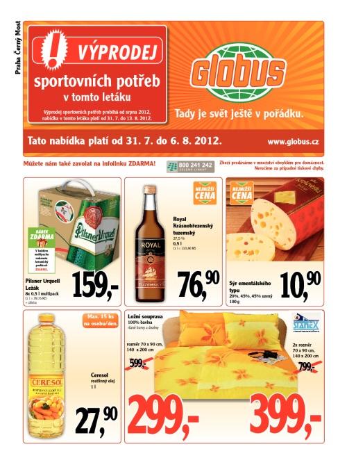 Leták Globus  (od 31. červenec 2012 do 6. srpen 2012)