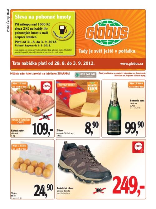 Leták Globus  (od 28.srpen 2012 do 3.září 2012)