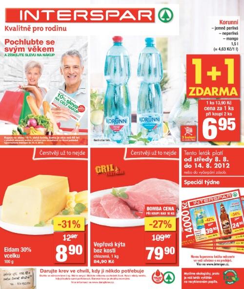 Leták INTERSPAR  (od 8. srpen 2012 do 14. srpen 2012)