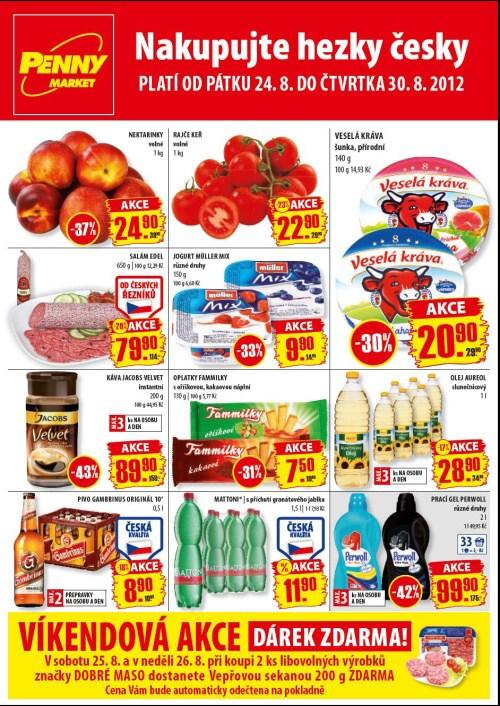 Leták Penny Market  (od 24.srpen 2012 do 30.srpen 2012)